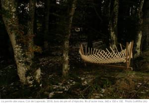 sculpture structure autotendante la pente des eaux