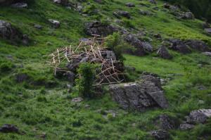 sculpture tenségrité land art Hautes-Alpes
