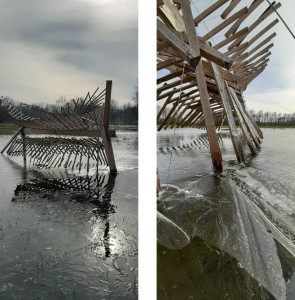 tenségrité sculpture Beaulieu La pente des eaux